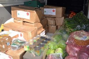 Карітас передав продукти для військових АТО у львівську психіатричну лікарню