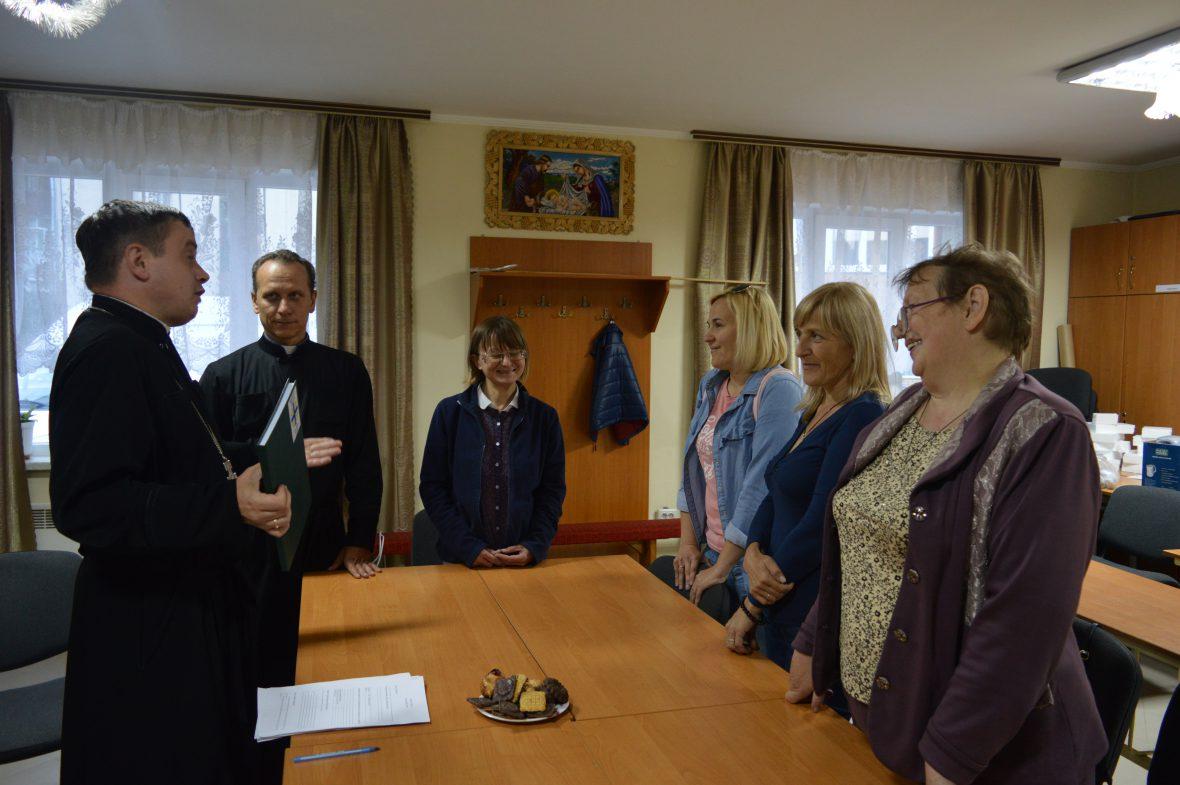 Зустріч з волонтерами соціального служіння у парафії Положення пояса Пресвятої Богородиці