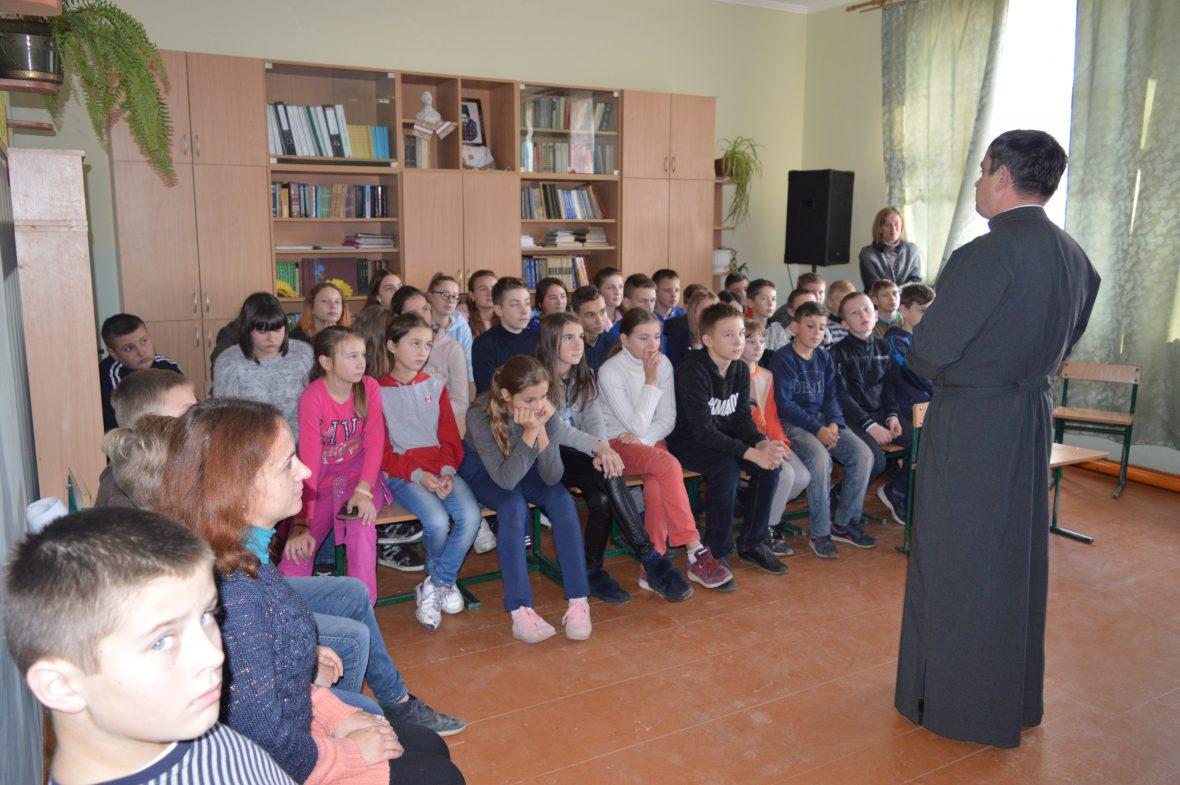 Старшокласники Годовицької середньої школи довідались про соціальне служіння УГКЦ