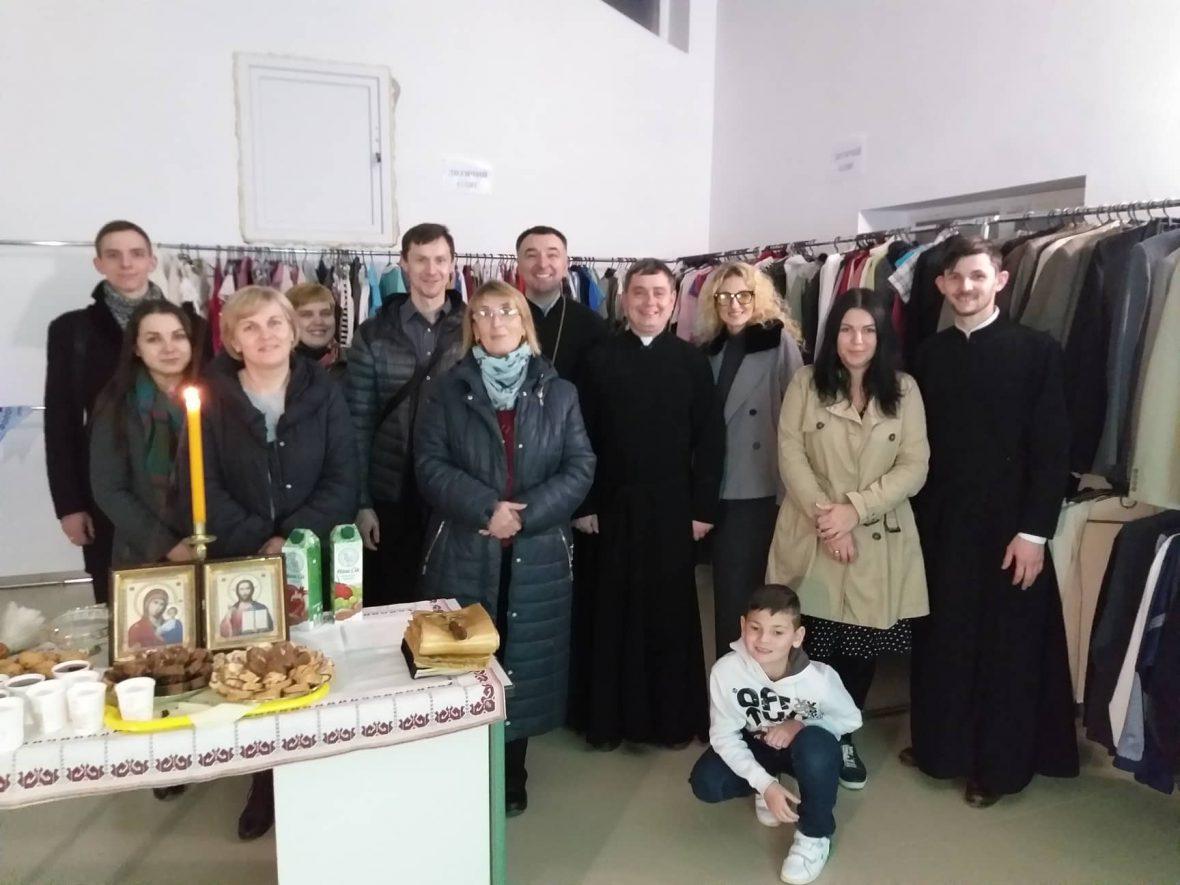 Освячення нового приміщення Парафіяльного Карітасу громади Всіх святих українського народу