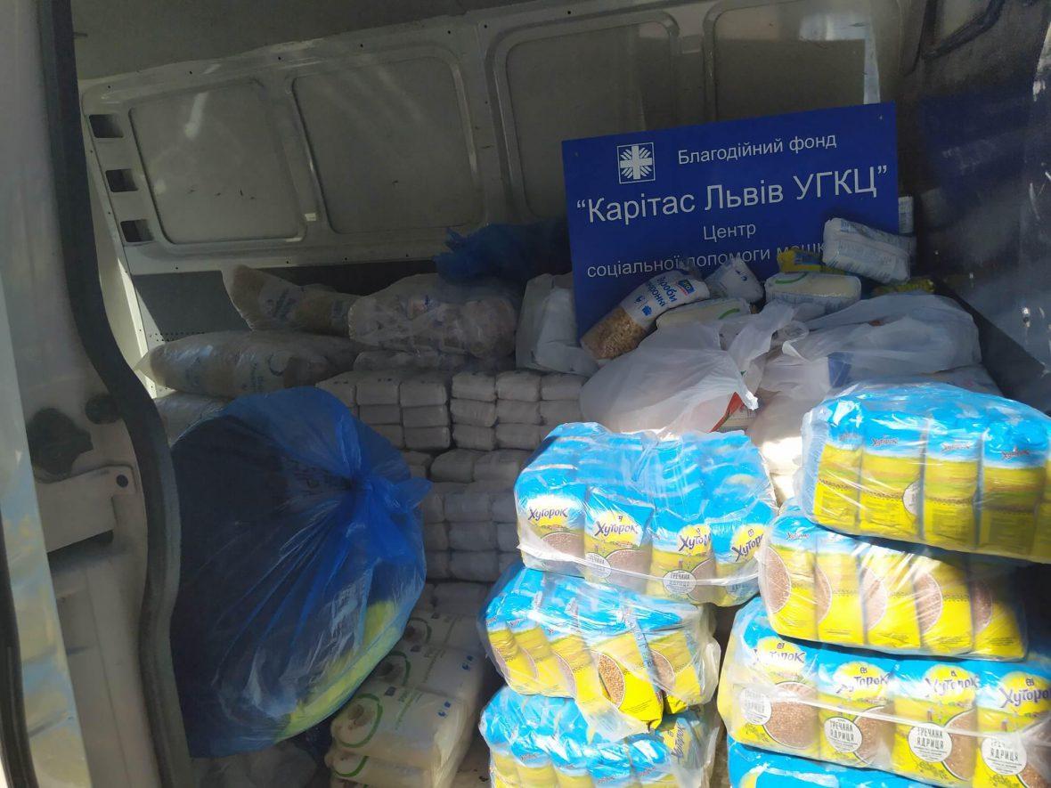 Карітас Львова передав допомогу для людей, що постраждали від паводків